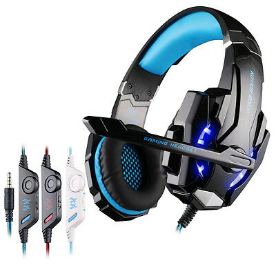 Gaming MIC LED Light Headset CellPhone Headphones For 3.5mm jack PS4/Xbox One