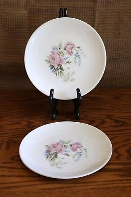 "Edwin Knowles - RAVENNA - U.S.A. - 6 1/4"" Bread and Butter Plates (2)"