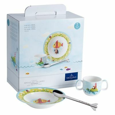 NEW Villeroy & Boch Chewy Around the World 3-Piece Baby Set