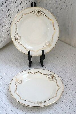 "Edwin M Knowles - ADAMS - U.S.A. Semi Vitreous 6 1/2"" Bread & Butter Plates (2)"