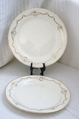 "Edwin M Knowles China Co - ADAMS - U.S.A. Semi Vitreous - 10"" Dinner Plates (2)"