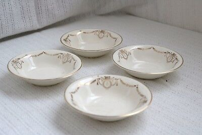"Edwin M Knowles China Co- ADAMS - U.S.A. Semi Vitreous - 5 1/2"" Berry Bowls (4)"