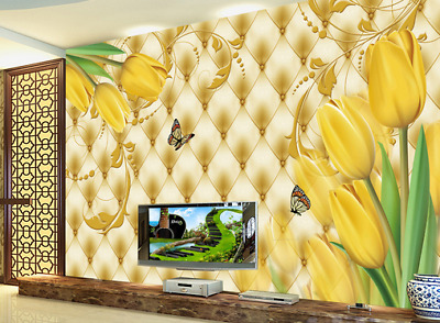 3D Noble Color Tulip 7 Wall Paper Murals Wall Print Wall Wallpaper Mural AU Kyra