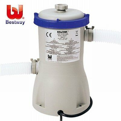 NEW 3028L/hr Flow Rate Bestway Flowclear Above Ground Swimming Pool Filter Pump