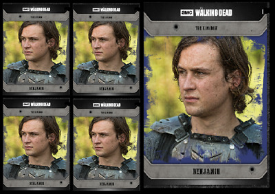 Topps The Walking Dead Card Trader COMMUNITY BENJAMIN Blue & Black Digital