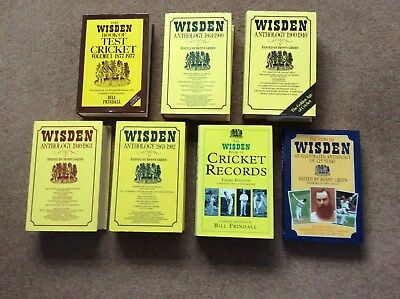 Wisden Cricketers Almanack collection - 7 Hardback books in VGC - Free P&P to UK