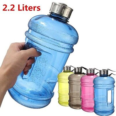 Large 2.2L Free Sport Gym Half Gallon Training Camping Workout Water Bottle Hot