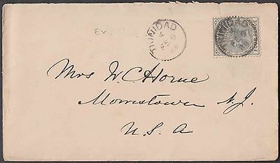 Trinidad 4 D On Cover To Usa. Scarce