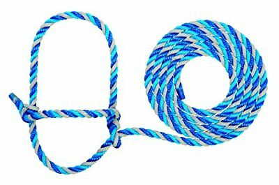 Weaver Leather Cattle Rope Halter, Dark Blue/Turquoise/Gray, Cow