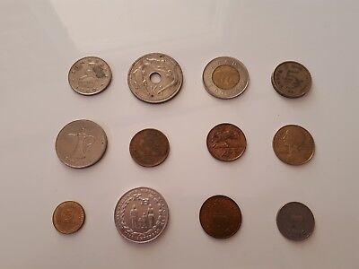 Mixed Lot of 12 Collectable World Coins, Circulated