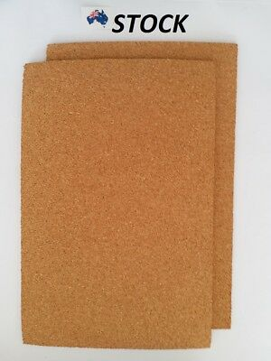 2 pcs Cork Sheet 200 x 300 x 6 mm for model train underlay, diorama, pin board