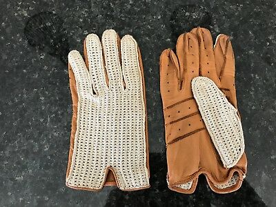 Old Fownes Rally Driving Gloves Used but in original box Size small