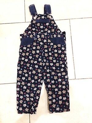 Girls Cord Dungarees 6-9months