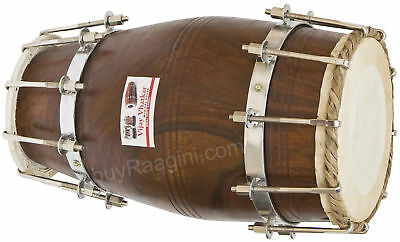 Dholak Vhatkar|Sheesham Wood Dholki|19 Inches|Natural Color/bolt Tuned|Bag|Dih-2