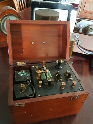 Antique Telegraph Relay? or Medical Coil?  in mahogany box