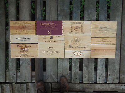 12 estampes façades caisses vin Bordeaux dimension 131cm X 46cm wine box panels
