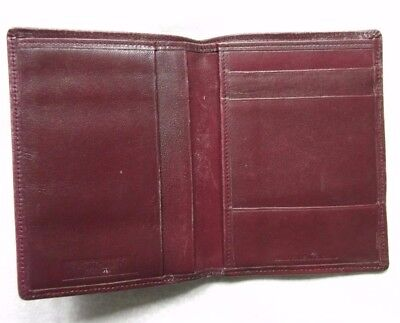 REAL LEATHER VINTAGE WALLET BI-FOLD CARDS ID 1980s 1990s OXBLOOD WIGFIELD LONDON