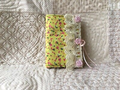 Needle Book Handcrafted Shabby Chic Style