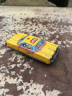 Vintage TIN TOY Friction TAXI Made in Japan 1950's