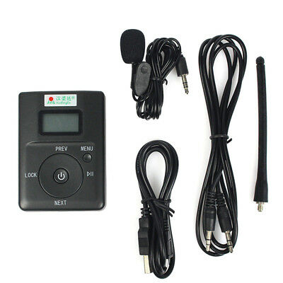 FM Transmitter Stereo Radio Broadcast Adjustable Frequency 60-108 MHz
