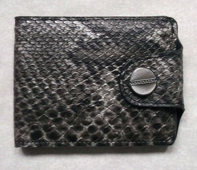 FAUX SNAKESKIN LEATHER VINTAGE CLASSIC MENS WALLET BI-FOLD CARDS NOTES 1990s