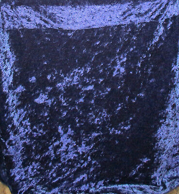 120 inch Round Tablecloth Velour Blue