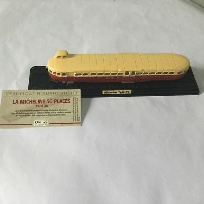 Atlas 1:87 Limited Train Model La Michelines 56 Places Type 20 1934 Toy Gift