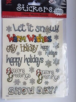 Christmas Greetings stickers/Embellishments provo craft 3 sheet pp