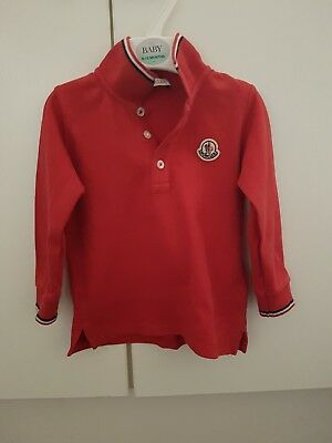 baby moncler long sleeved polo 12 months