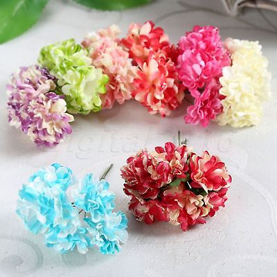Paper Carnation Handmake Artificial Flowers Bouquet Wedding Gift Box Party Craft