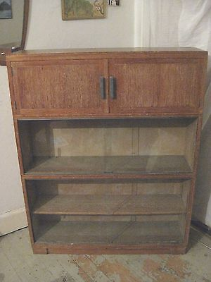 Minty Oxford Light Oak 3 Tier Stacking Sectional Bookcase Cabinet - May Ship UK