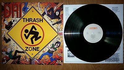 D.R.I. - Thrash Zone LP NL 1ST ROADRACER RARE METAL EX+/EX