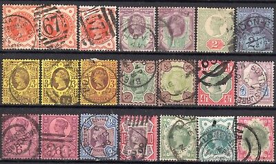 (725) 21 Very Good Lightly Used Sg197 - 214  Qv Jubilee Issue
