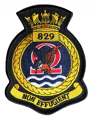 829 NAS Naval Air Squadron Royal Navy 2017 Embroidered Crest Patch MOD Approved