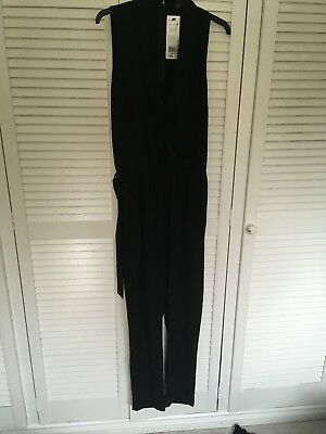 BNWT Women's / Ladie's black jumpsuit /all in one - Size 12 / Euro 40.