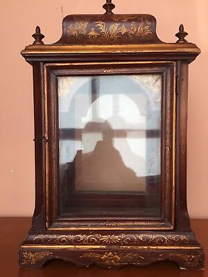 Wooden case lacquered and polychrome Bracket clock XVIII century