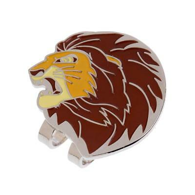 Mini Lion Alloy Magnetic Golf Ball Marker with Hat Clip Golf Accessories