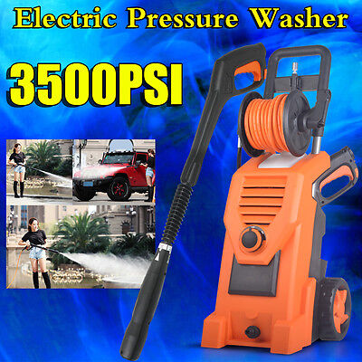 Pro 3500PSI High Pressure Washer Electric Water Cleaner Hose Gurney Pump Cleaner