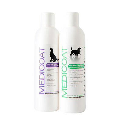Natural Dog Shampoo & Soothing Conditioner for itchy, dry, irritated, flaky skin