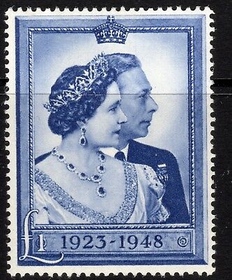 (743) Very Fine Unmounted Mint Gvi 1948 R.s.w. £1 Blue Sg494