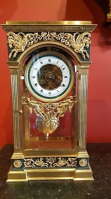 Empire Style Pendulum clock and two vases