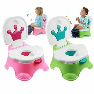 Baby Toddler Potty Trainer Step Stool Musical Reward Chair Toilet Training Seat