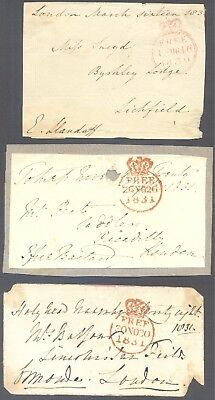 GB QV 1830/40 Prestamp Cancels 6 Fronts