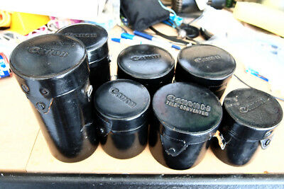 7 x CANON FD lens cases....see list below