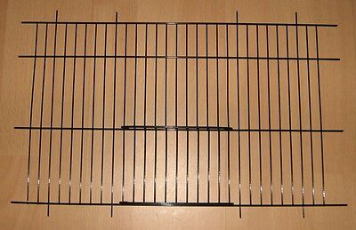 "2 x BLACK CANARY CAGE / CARRY UNI CAGE FRONTS 16"" x 10"" - WADES"