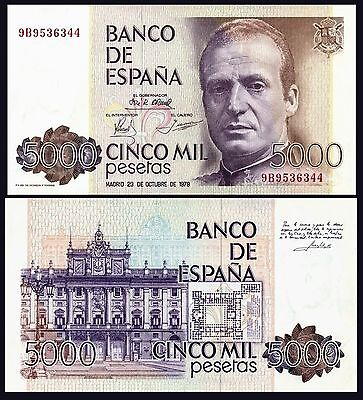 Facsimil Billete 5000 pesetas 1979 - Reproduction