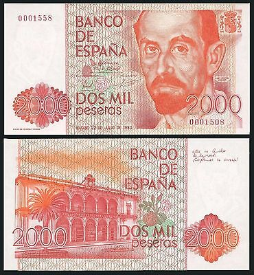 Facsimil Billete 2000 pesetas 1980 - Reproduction