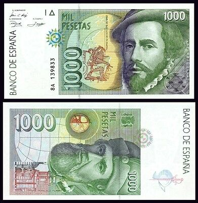 Facsimil Billete 1000 pesetas 1992 - Reproduction
