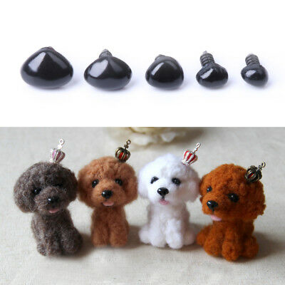 100pcs Plastic Safety Nose Black Triangle For DIY Sew Doll Bear Teddy Kids Toy