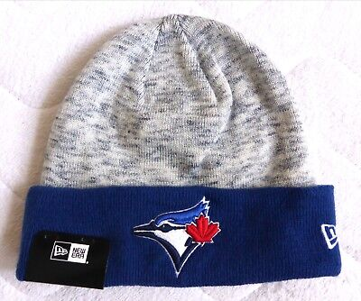 Toronto BLUE JAYS New Era Grey Marble CUFF Beanie Toque Hat Baseball TAG canada